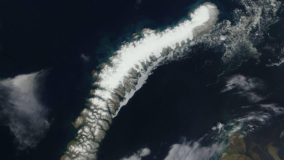 Foto: Vista desde satélite del archipiélago de Novaya Zemlya (Rusia), Foto: NASA