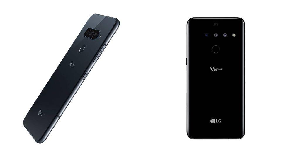 Foto:  Los nuevos modelos 'LG G8 SmartGreen' y 'LG V50 ThinQ 5G'.