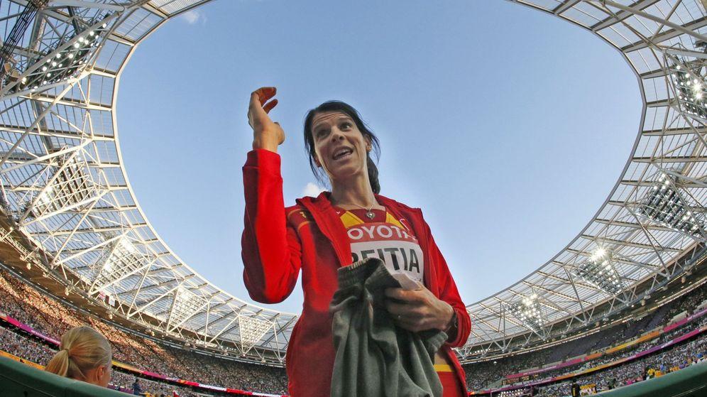 Foto: Ruth Beitia, en los mundiales de Londres. (EFE)