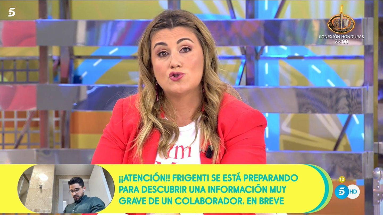 Carlota Corredera, en 'Sálvame'. (Telecinco)