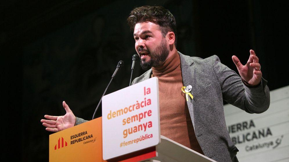 Foto: El portavoz adjunto de ERC en el Congreso Gabriel Rufián. (EFE)