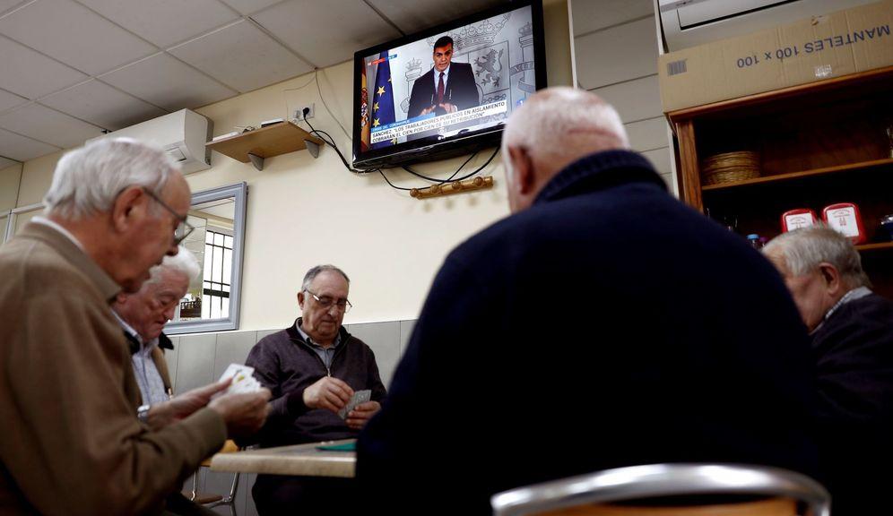 Foto: El presidente del Gobierno, Pedro Sánchez, durante su rueda de prensa telemática sobre las medidas adoptadas por el Consejo de Ministros de este 12 de marzo de 2020 sobre el coronavirus. (EFE)
