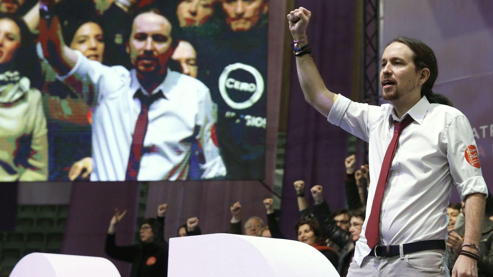 Foto: El líder de Podemos, Pablo Iglesias, durante la segunda jornada de la Asamblea Ciudadana Estatal de Vistalegre II. (EFE)