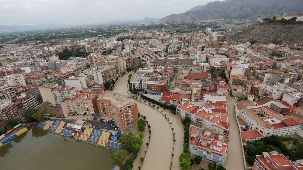 Foto: Imagen aérea de Orihuela inundada. (EFE)