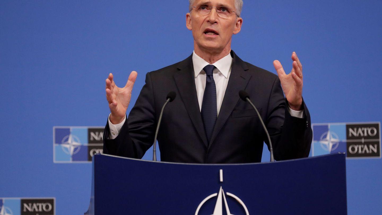 El secretario general de la OTAN, Jens Stoltenberg, en una rueda de prensa durante la pasada reunión de los ministros de Defensa en Bruselas. (EFE)