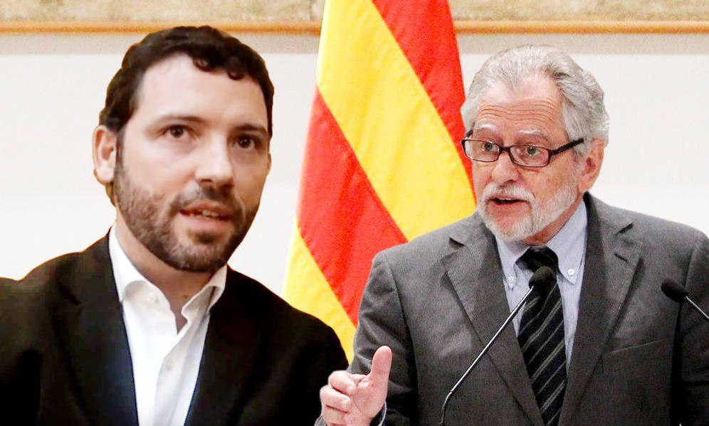 Foto: Víctor Cullell, presidente de Secretaría para el Desarrollo y del Autogobierno de la Generalitat y Carles Viver i Pi-Sunyer, presidente del Instituto de Estudios del Autogobierno. (EC)