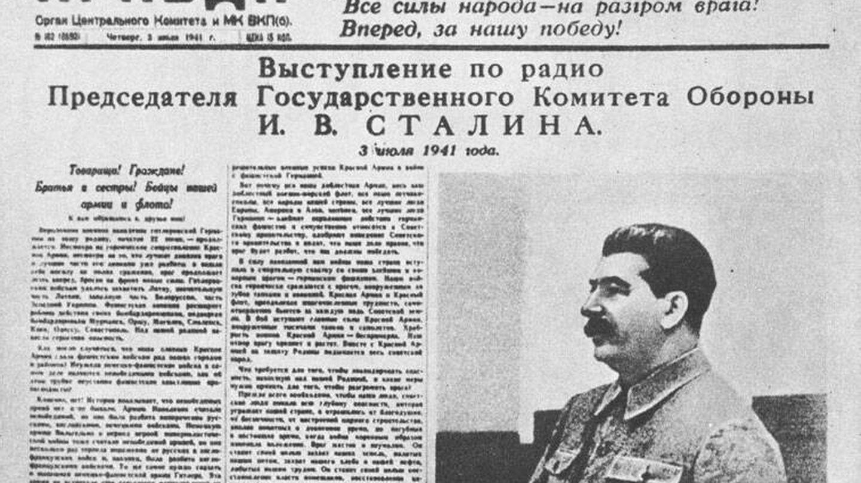 Stalin en la prensa, julio de 1941