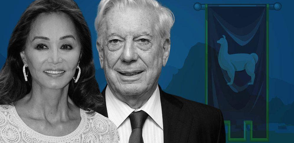 Foto: Isabel Preysler y Mario Vargas Llosa en un fotomontaje de Vanitatis.