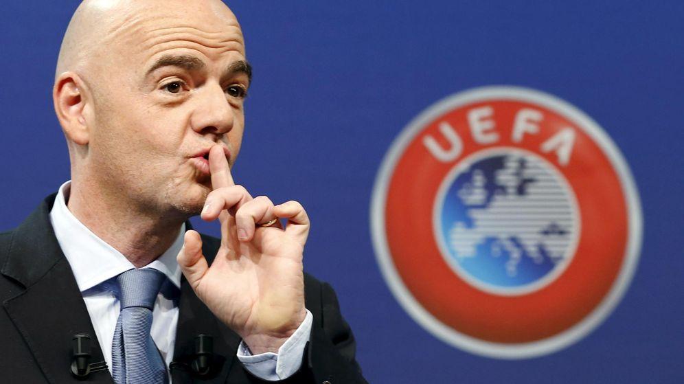 Foto: Gianni Infantino, respaldado unánimemente por la UEFA (Reuters).