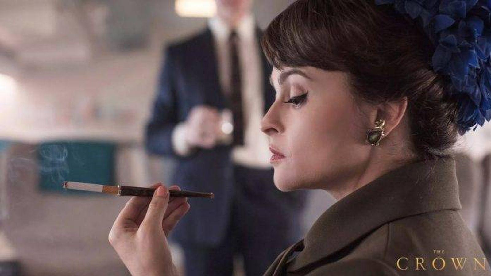 Foto: Helena Bonham Carter, en el papel de la princesa Margarita. (Netflix)