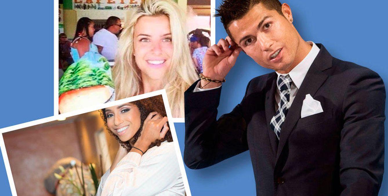 Foto: Cristiano Ronaldo en un fotomontaje junto a sus dos presuntas novias (Vanitatis)