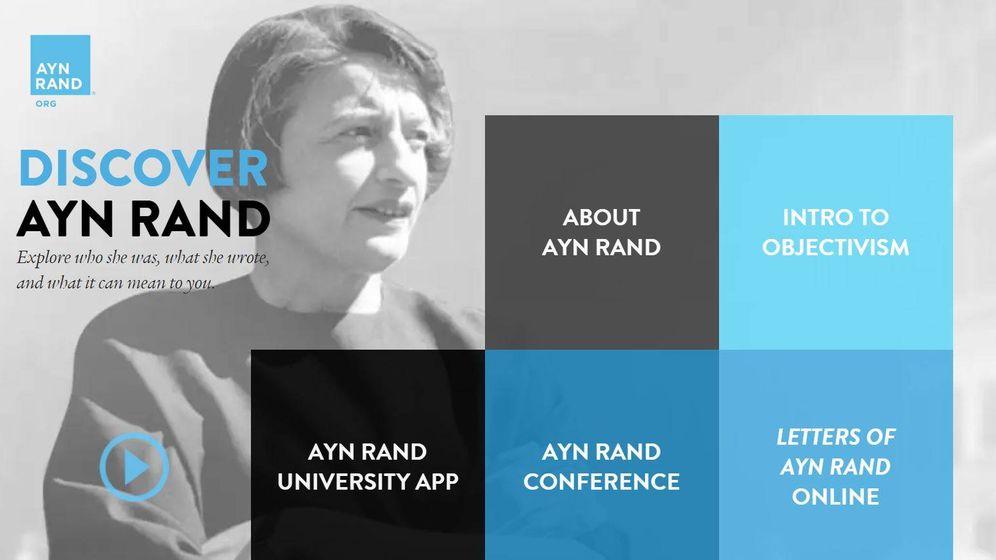 Foto: Imagen de la web del Instituto Ayn Rand.