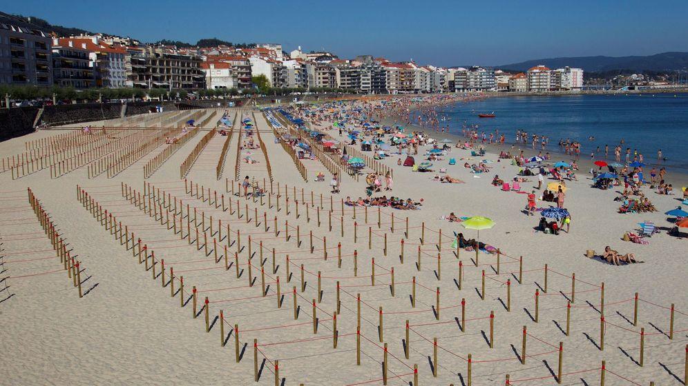 Foto: La playa de Silgar en Sanxenxo (EFE)