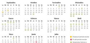Post de Calendario escolar 2019-2020 en Galicia: vacaciones, festivos y días no lectivos