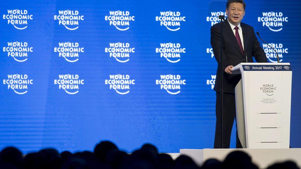 Foto: El presidente chino, Xi Jinping, da un discurso durante la primera jornada de la 47 edición del Foro Económico Mundial de Davos. (Efe)