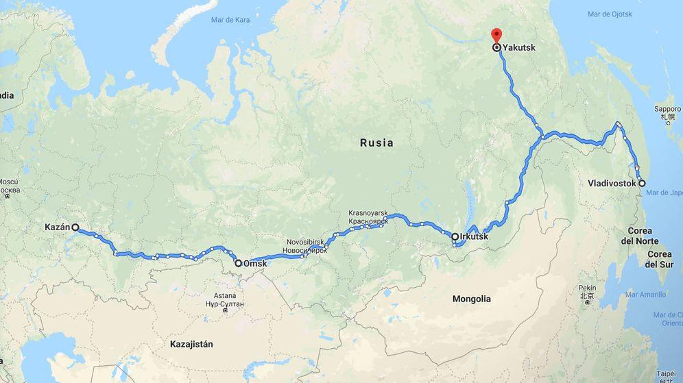 Foto: Desde que salieron de Kazan, el circo Togni ha recorrido más de 10.000 kilómetros (Foto: Google Maps)