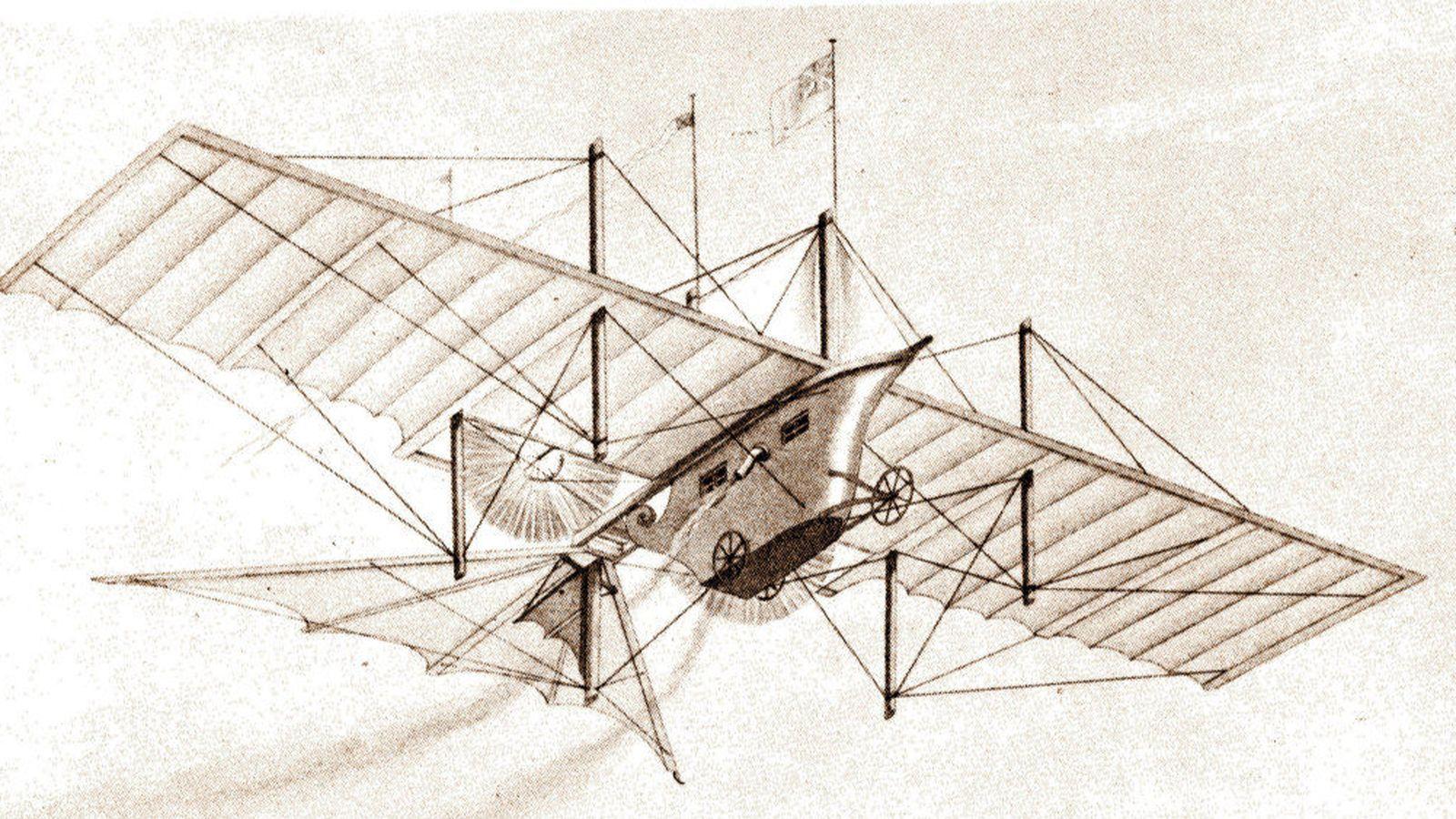 Foto: Coche volador. (Wright-brothers.org)