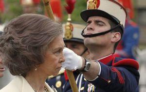 Foto: Doña Sofía preside la jura de bandera de nuevos Guardias Reales