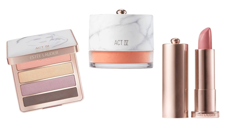 Algunos productos de la línea Act IV de Danielle Lauder para Estée Lauder.