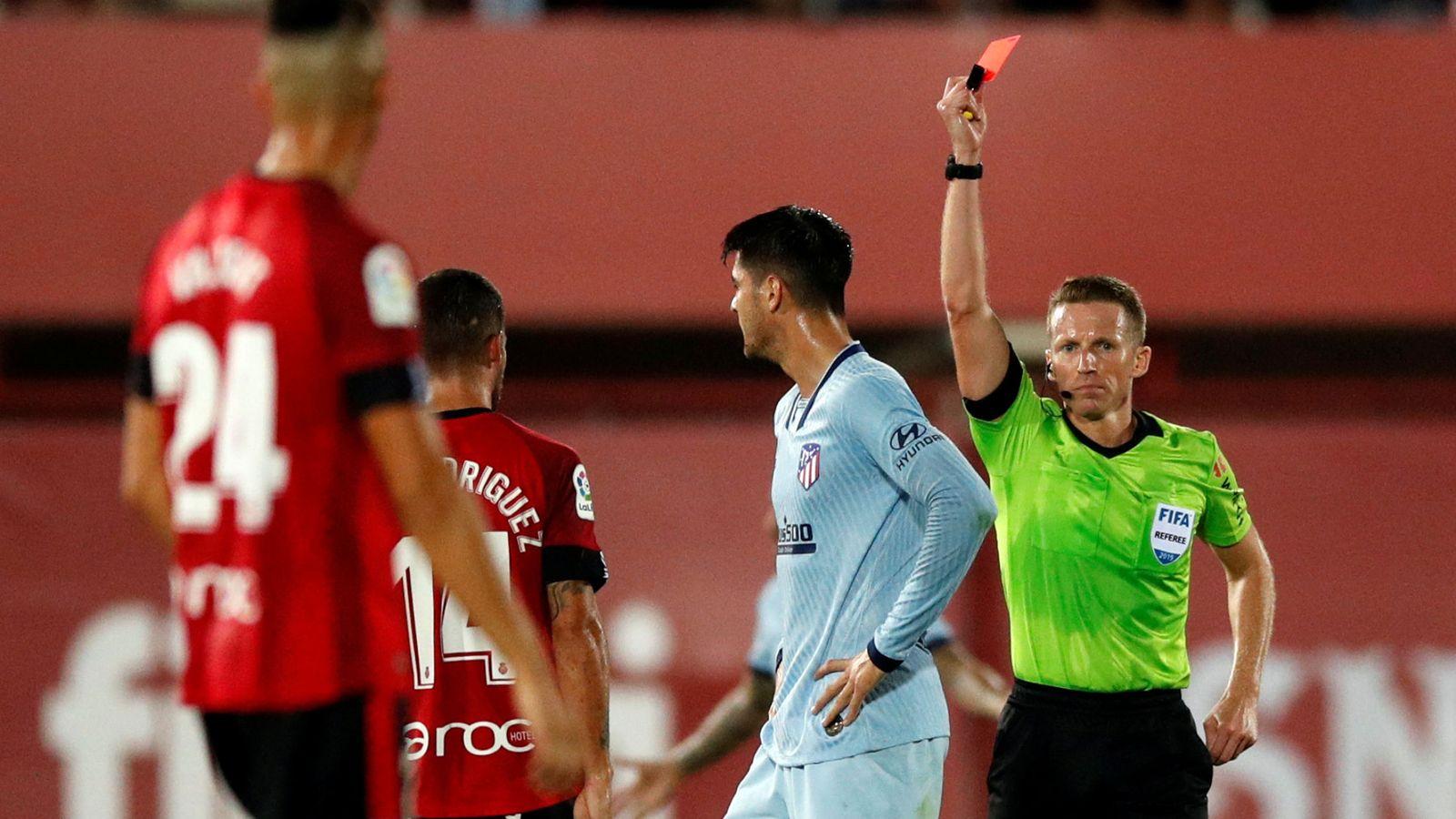 Foto: La expulsión de Morata en el Mallorca-Atlético de Madrid. (Reuters)