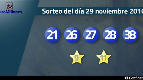 Resultados del sorteo del Euromillones del 29 de noviembre de 2016