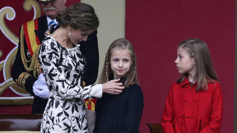 Foto: La reina Letizia junto a sus hijas en una imagen de archivo (Gtres)