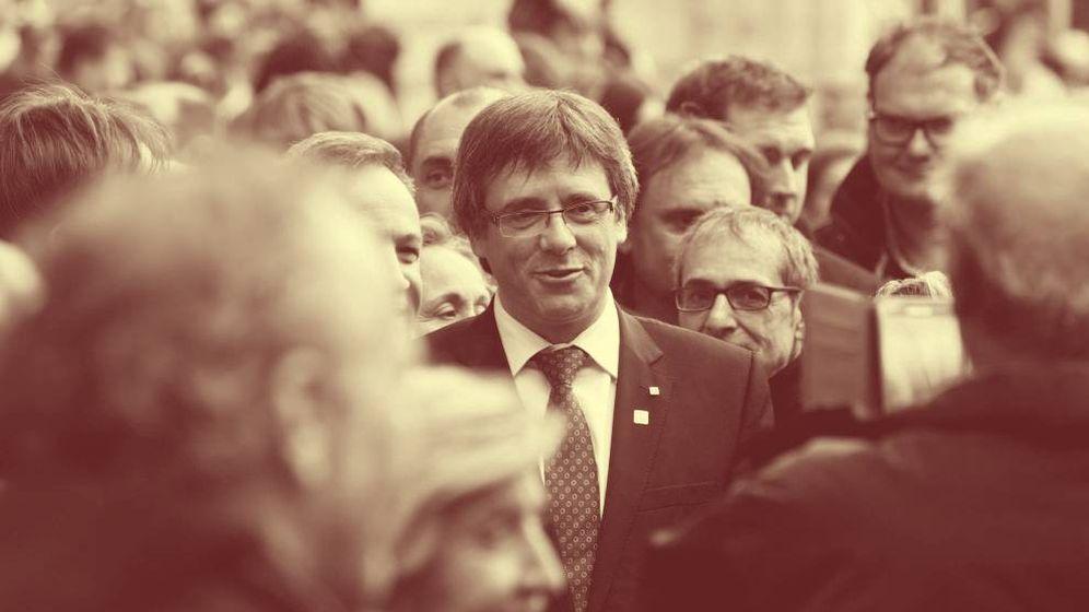 Foto: Carles Puigdemont participa en una concentración. (EFE)
