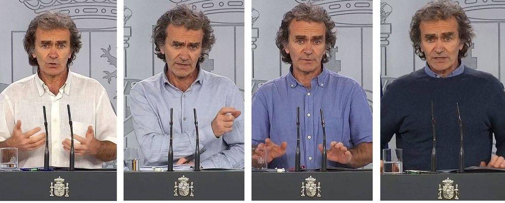 Foto: La escala cromática estilística de Fernando Simón. (EFE)