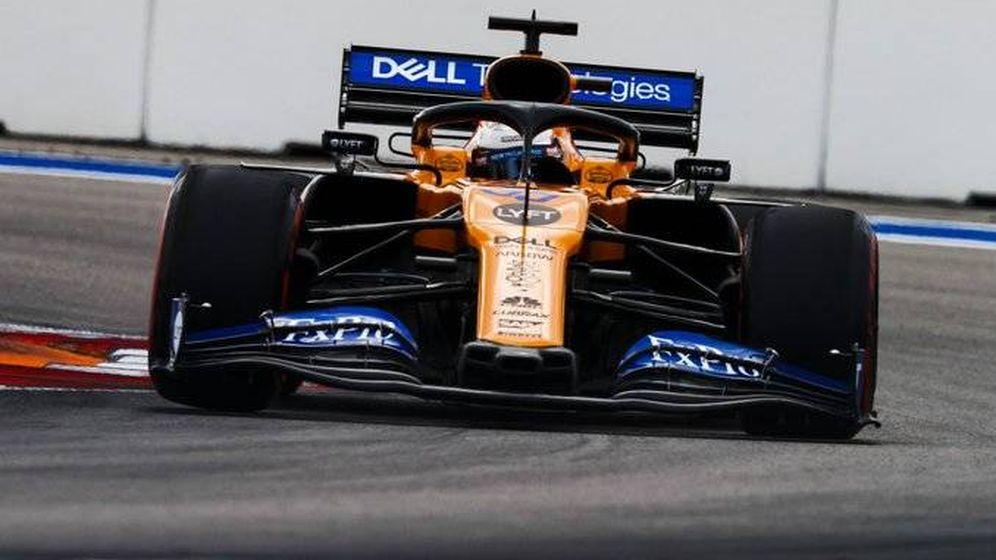 Foto: Carlos Sainz durante el Gran Premio de Rusia. (McLaren)