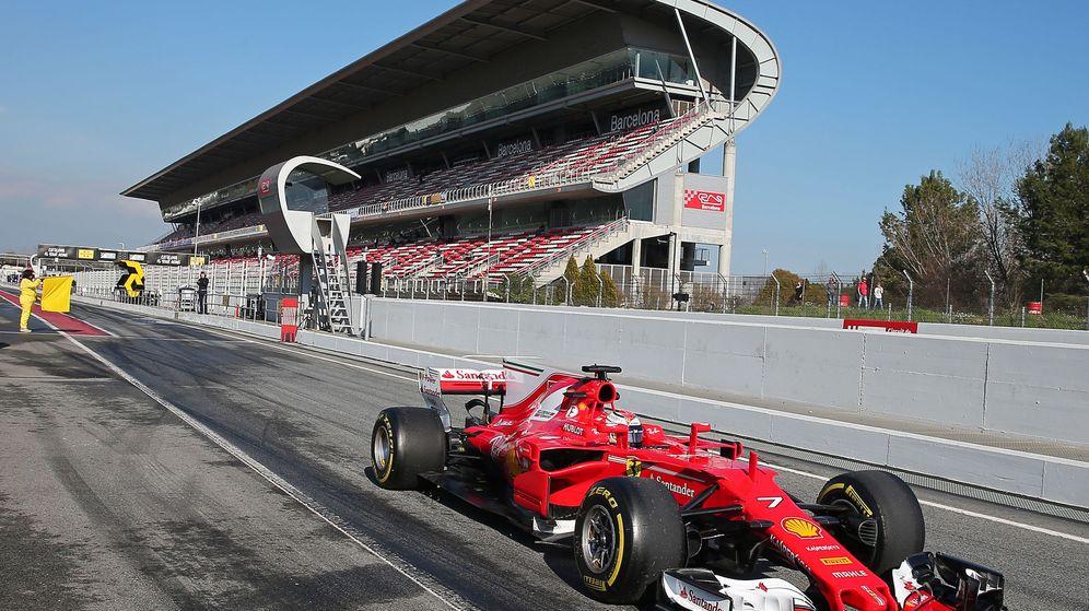 Foto: Kimi Raikkonen en el circuito de Montmeló.