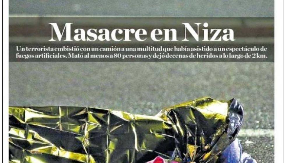 El atentado de Niza marca las portadas de la prensa internacional
