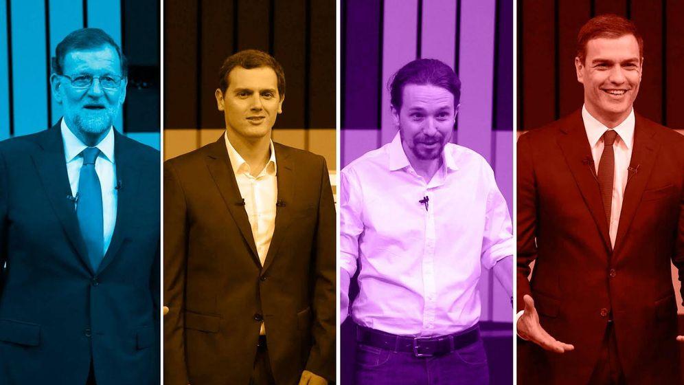 Foto: Elecciones Generales 2016: Mariano Rajoy (Partido Popular), Albert Rivera (Ciudadanos), Pablo Iglesias (Unidos Podemos) y Pedro Sánchez (PSOE)