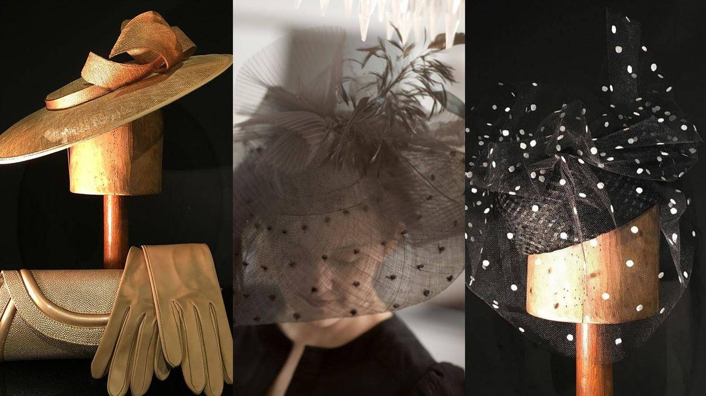 Algunos de los sombreros, accesorios y tocados de Mariana Barturen, toda una experta en convertir la sombrerería artesanal en arte.