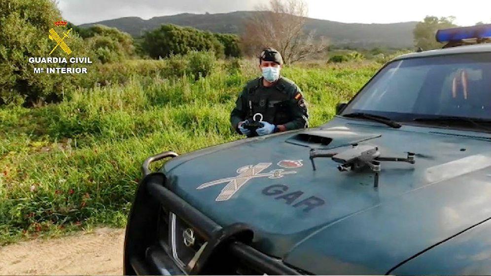 Foto: El dron de la Guardia Civil. (Guardia Civil)
