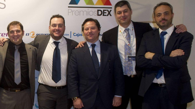 Foto: Cinco de los seis socios del portal, con Fede Quintero (socio mayoritario) segundo por la izquierda. (Eldesmarque.com)