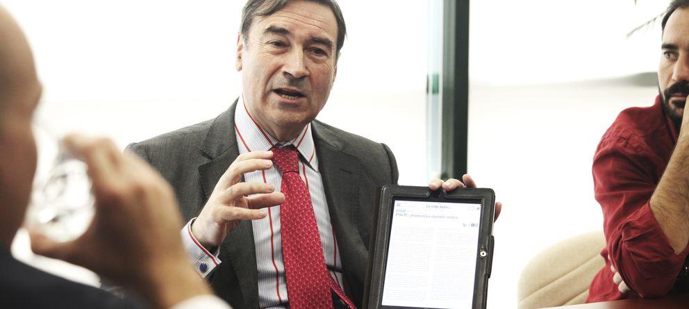Foto: El todavía director de 'El Mundo', Pedro J. Ramírez. (E. Villarino)