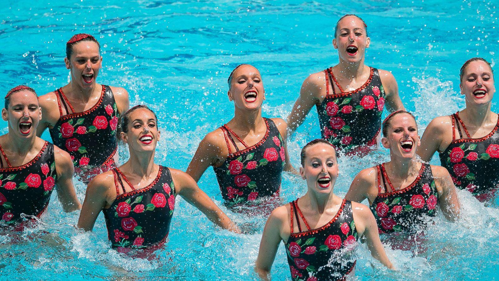 Foto: El equipo español de natación sincronizada. (EFE)
