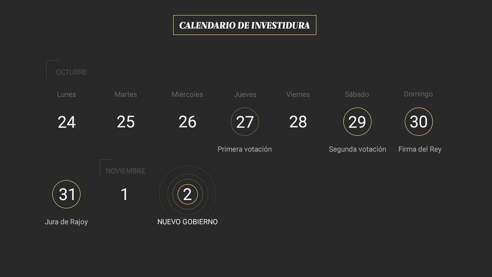 El calendario definitivo: Rajoy será reelegido presidente el sábado