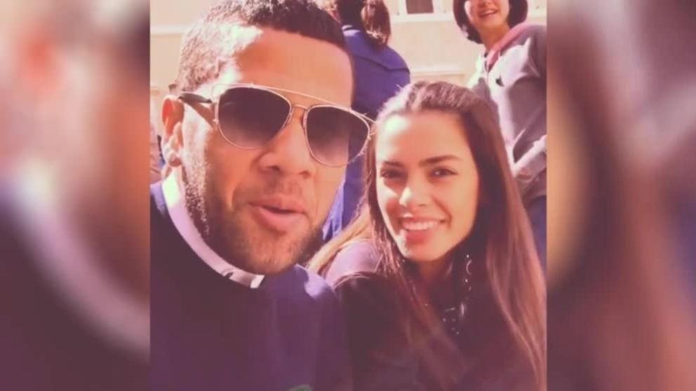 Dani Alves descubre junto a su novia los encantos de Roma