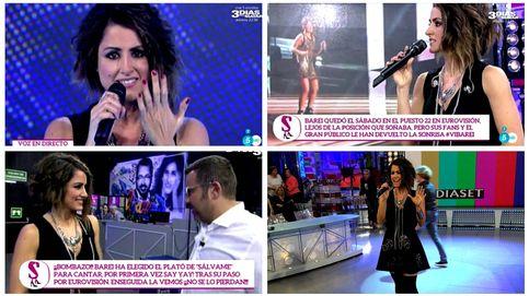 Barei reaparece en 'Sálvame' tras su paso por Eurovisión: Sentí vergüenza