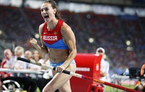 Adiós de oro para Isinbayeva: campeona del mundo en Moscú