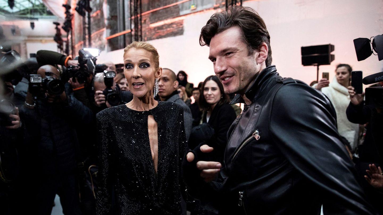 Céline Dion y Pepe Muñoz, en enero de 2019 durante la Semana de la Moda de París. (EFE)