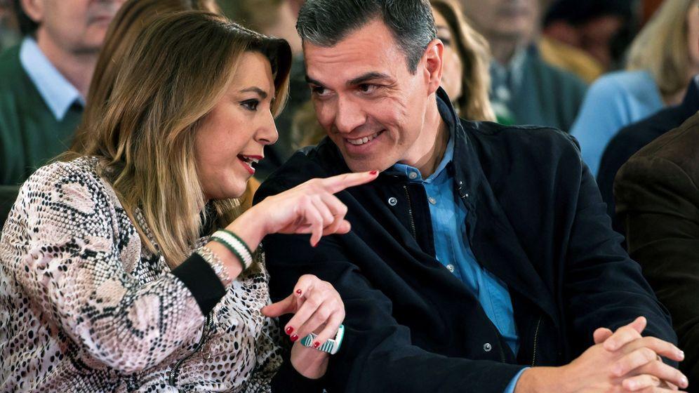 Foto: El presidente del Gobierno y secretario general del PSOE, Pedro Sánchez (d), y la secretaria general de los socialistas andaluces, Susana Díaz. (EFE)
