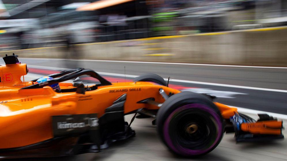 Foto: El McLaren de Alonso, en los entrenamientos. (Reuters)