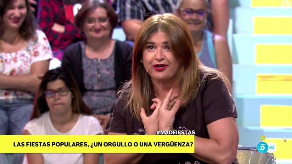Foto: Lucía Etxebarría durante su intervención en 'Mad in Spain'. (Mediaset España)
