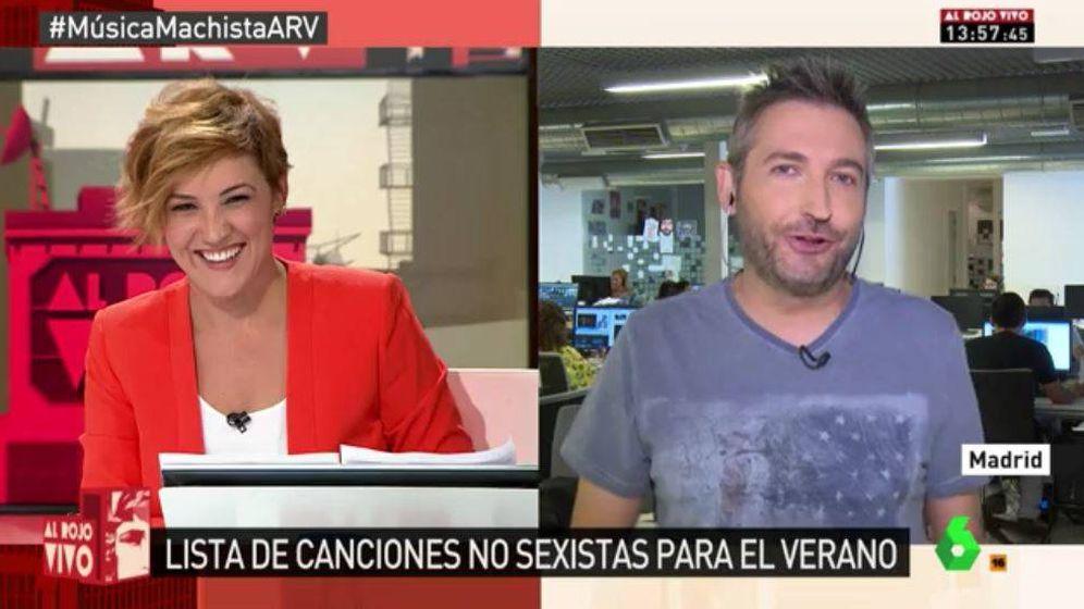 Foto: Frank Blanco y Cristina Pardo en 'Al rojo vivo'.