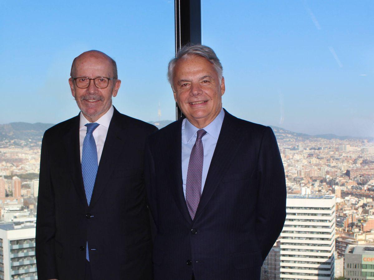 Foto: Eusebio Díaz-Morera, presidente de EDM (izquierda), junto a Ignacio Garralda (presidente de MM).