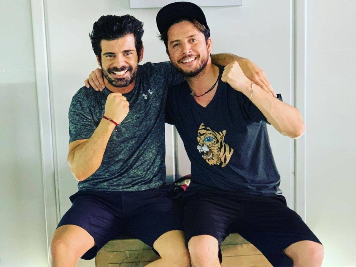 Foto: Miguel Lordán, junto a Manuel Carrasco en una imagen de sus redes sociales. (Instagram @mltrainer)