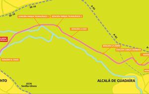 El tranvía Alcalá-Sevilla, otra obra faraónica varada tras 80 millones
