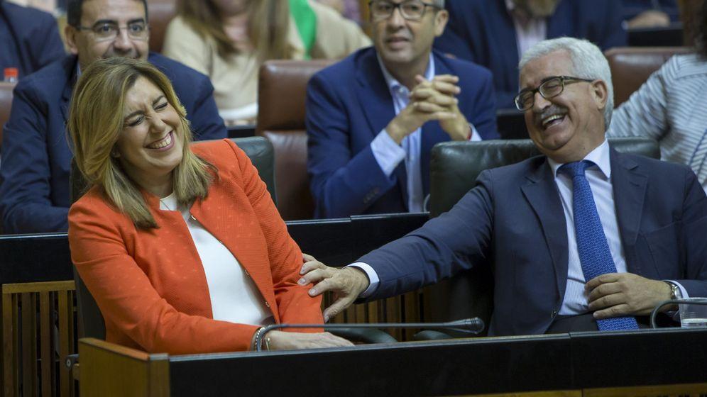 Foto: Susana Díaz, durante la tramitación de la proposición de ley sobre impuesto de sucesiones. (EFE)